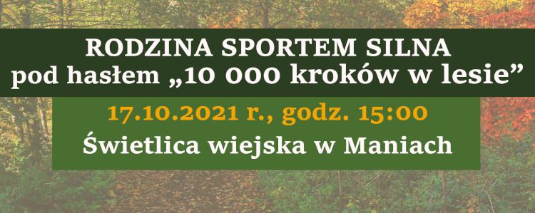 Rodzina Sportem Silna w Maniach – zaproszenie